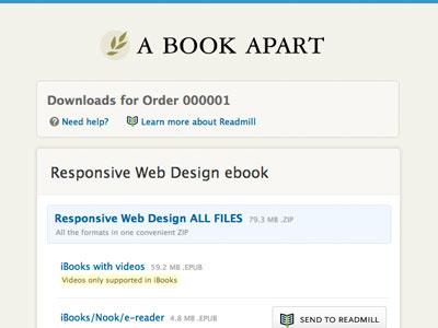 New A Book Apart ebook download in progress blue beige a book apart