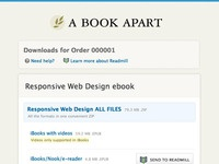 New A Book Apart ebook download in progress