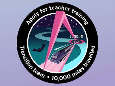 Apply for teacher training – Transition team mission patch intercity hst sticker patch illustraion