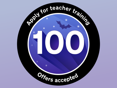 Apply for teacher training - 100 offers accepted patch sticker
