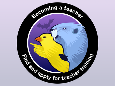 Becoming a teacher - Find and apply for teacher training sticker patch