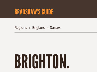 Revisiting Bradshaw's Guide