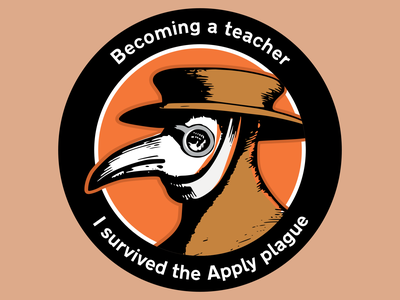 Apply Plague Sticker plague doctor sticker patch illustration