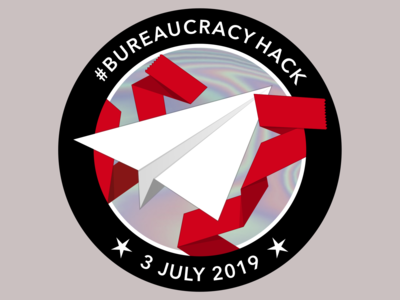 #BureaucracyHack Sticker