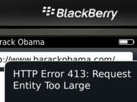 HTTP Error 413: Request Entity Too Large