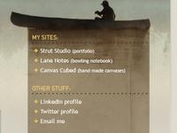 personal site navigation