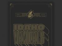 Idaho Vandals Poster