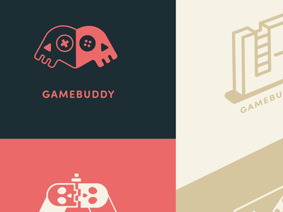 Game App Branding branding design retro games gold red modern ui branding controller videogame