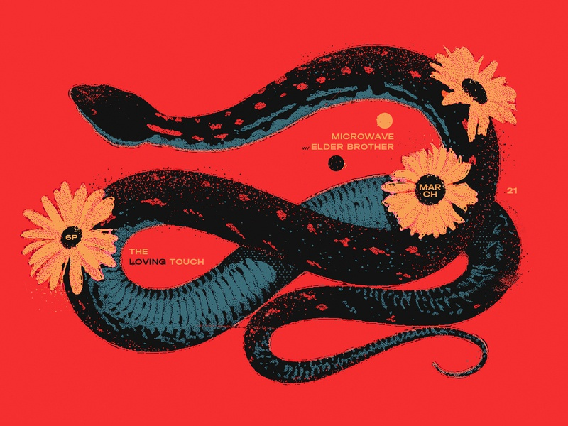 Untitled 3 01 western tour poster daisy illustration snake