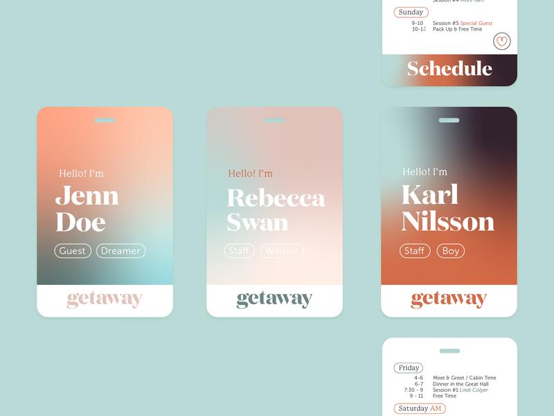 Getaway Pass identification lanyard retreat conference women church design