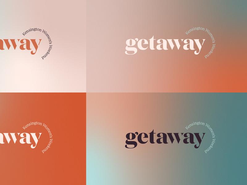 getaway gradients stencil serif wordmark logo christian church design conference retreat women gradient