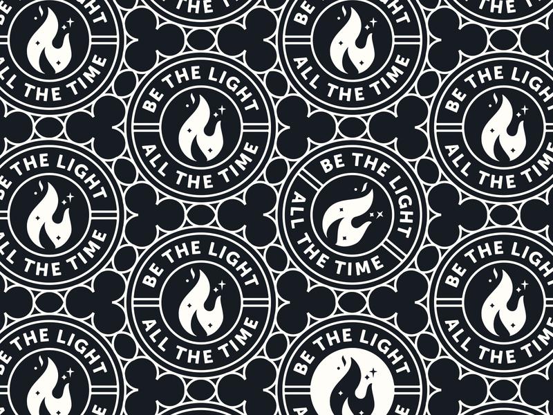BtL, AtT isaiah flame christian badge church design