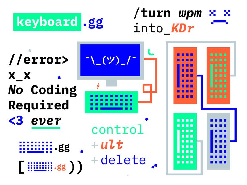 keyboard.gg brand branding logo digital video games gaming that blue monospace technology