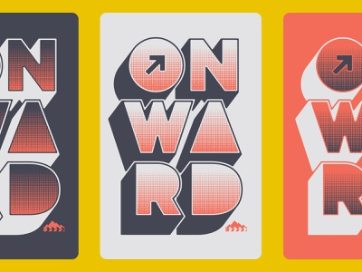 and upward ☞ two color upward sticker shirt type typography