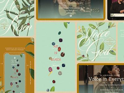 Easter @ Kensington 2021 floral jewels social media holiday stipple wallpaper youtube church design church easter