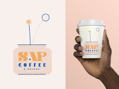 May Flowers 🌸 textures drinks logo brand flower coffee illustration