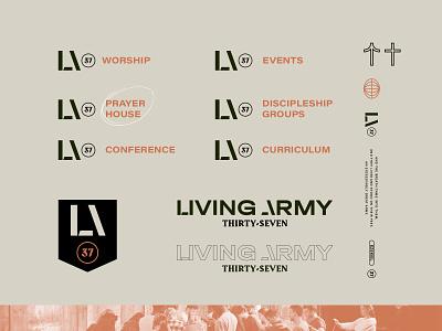 LA37 prayer worship military army church design brand identity ezekiel bible branding icon christian logo church brand