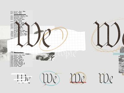 We 🌿 scribbles collage conversation race love social justice wordmark icon branding logo america detroit