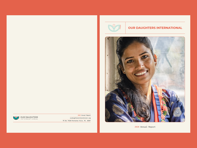 ODI Annual Report   2020 activism nonprofit infographic data international social justice justice human trafficking india nepal print layout editorial editorial design annual report