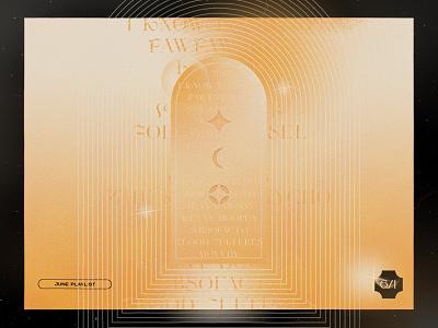 June Playlist 🚪✨ illustration music texture gold arcane album art playlist mixtape