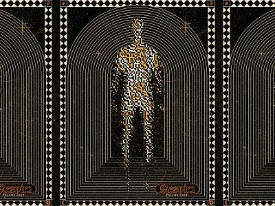 Respira practice music blackletter respira texture arcane illustration celestial poster