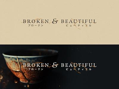 Broken & Beautiful 🏺⚡ sermon series chiaroscuro kintsugi graphic design branding metaphor photography wordmark logo testimony christian church design