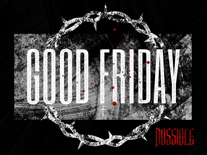 Good Friday good friday easter illustration church design