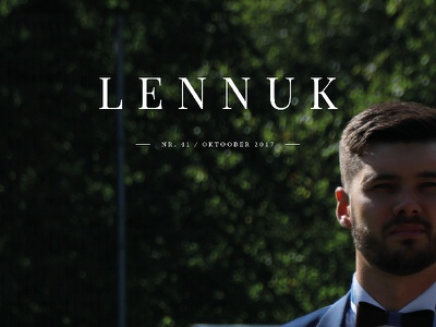 Lennuk No. 41 — School Newspaper Design 21k estonia school minimalistic clean cover newspaper