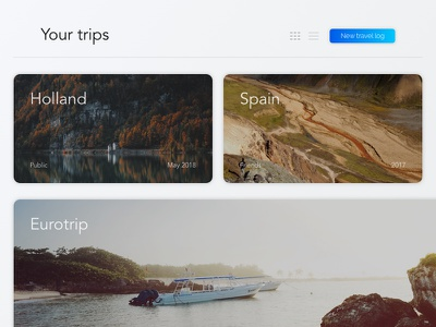 Travel Tracking estonia gradient clean sketch