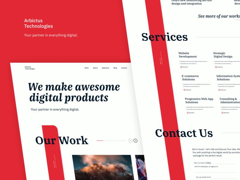 Creative Agency Landing Page typography vector debut figma ux branding ui design minimalistic clean estonia