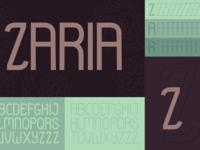 Zaria, a new typeface.