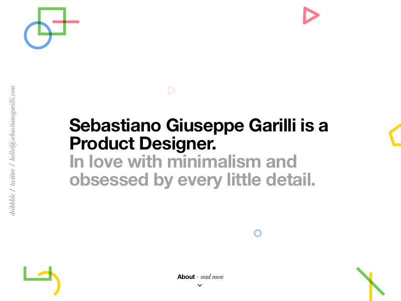 Workin' on my new portfolio portfolio minimal typography helvetica colour ux design ui