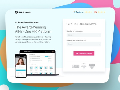 Rippling payroll hr ux software graphic design website design minimal web design landing page