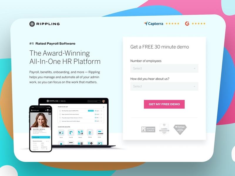 Rippling payroll hr ux software graphic design website design minimal web design landing page