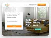 Weekend Maids ui ux graphic design website design web design landing page