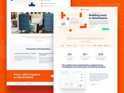 Chainalysis lead generation ui ux graphic design minimal website design web design landing page