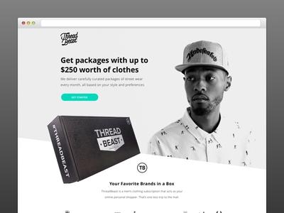 ThreadBeast Landing Page web design landing page streetwear hypebeast website fashion