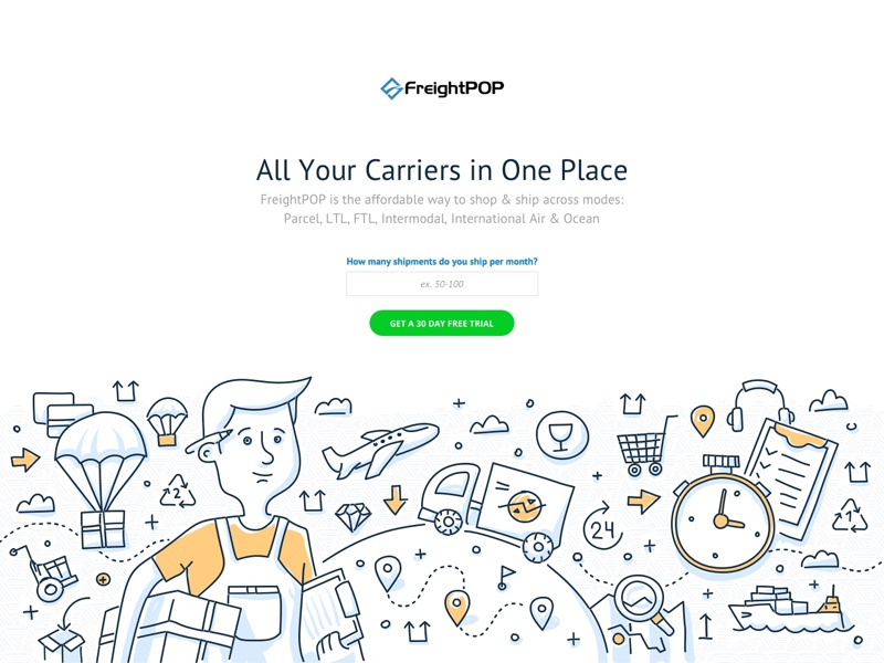 Freightpop Landing Page By Beavis Hari For Klientboost On Dribbble