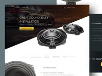 Bavsound Landing Page