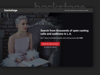Backstage Landing Page