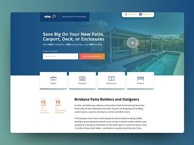 Altec Landing Page ux ux  ui minimal architecture illustration graphic design website website design web design landing page