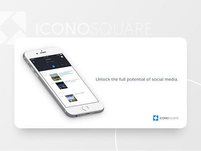 Iconosquare Facebook Ad display ad software minimal graphic  design facebook image ad facebook ad