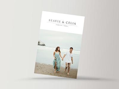 Beavis & Celia's Save-the-Date rsvp save-the-date wedding invite postcard print minimalistic graphic design wedding design wedding print wedding card wedding