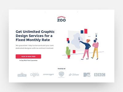 Graphics Zoo lead generation website design website web design ux  ui ux landing page illustration graphic design