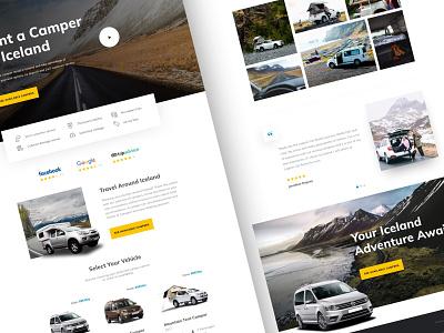 Lagoon Car Rental iceland travel automotive car rental campers graphic design minimal website design web design landing page