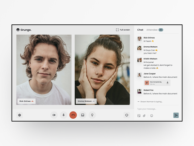 Video Call Interface Design ui  ux clean facetime broadcast video call app communication group call audio stream remote