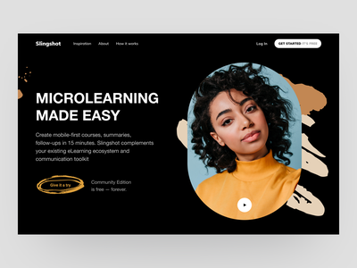 Educational Website Landing Page free download free freebie courses e learning online education education web hero section identity design visual identity lessons teach edtech landing page