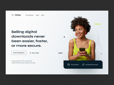 Remmy: digital products clean landing page branding identity freelancers colorful collectives freelancing home page landing freelance agency minimal blur gradients gradient