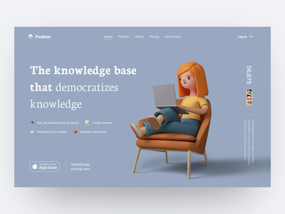 Peakon - Knowledge Base & Wiki That Democratizes Knowledge web app software people tech community service web design product design product page landing page visual identity identity e learning education