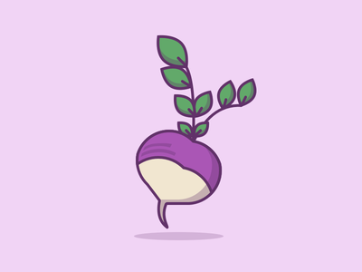 In Season: Turnips! vegetables food illustration icon turnip